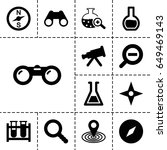 discovery icon. set of 13... | Shutterstock .eps vector #649469143