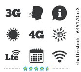 mobile telecommunications icons.... | Shutterstock .eps vector #649470553