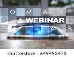 webinar. e learning  online...   Shutterstock . vector #649493473
