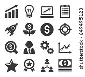 startup business icons set on... | Shutterstock . vector #649495123