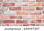 brick wall background. | Shutterstock . vector #649497397