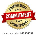 commitment round isolated gold... | Shutterstock .eps vector #649508857