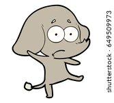 cartoon unsure elephant   Shutterstock .eps vector #649509973
