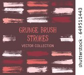 paint daubs  hand drawn brush... | Shutterstock .eps vector #649511443