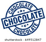 chocolate blue round grunge... | Shutterstock .eps vector #649512847