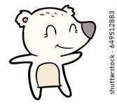 smiling polar bear cartoon | Shutterstock .eps vector #649512883