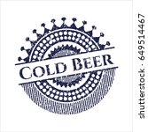 blue cold beer distressed...   Shutterstock .eps vector #649514467