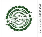 green enjoy the little things...   Shutterstock .eps vector #649515667
