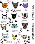 different breeds of cats. | Shutterstock .eps vector #649517137