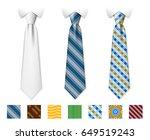 customizable neckties vector... | Shutterstock .eps vector #649519243