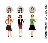 cartoon teacher women isolated... | Shutterstock .eps vector #649527583