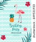 bright birthday invitation in... | Shutterstock .eps vector #649531933