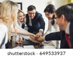 business people teamwork... | Shutterstock . vector #649533937