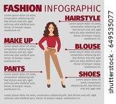 fashion infographic with girl... | Shutterstock .eps vector #649535077