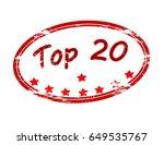 stamp with text top twenty...   Shutterstock .eps vector #649535767
