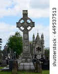 Small photo of BELFAST, NORTHERN IRELAND - APRIL 24: Milltown Cemetery 24 April, 2017 at Belfast. Milltown Cemetery is the resting place of IRA volunteers.