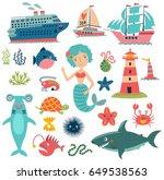 sea vector set | Shutterstock .eps vector #649538563