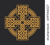 vector celtic cross. ethnic... | Shutterstock .eps vector #649546027