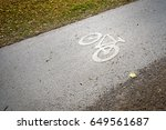 icon of the bicycle on the... | Shutterstock . vector #649561687