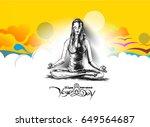 21st june international yoga... | Shutterstock .eps vector #649564687