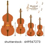 musical stringed instruments... | Shutterstock .eps vector #649567273