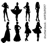 beautiful fashion girl... | Shutterstock .eps vector #649569097