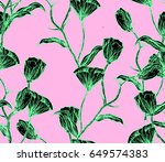 illustration made by ink on... | Shutterstock . vector #649574383
