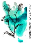 illustration made by ink on... | Shutterstock . vector #649574617