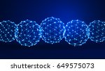 abstract background. 3d... | Shutterstock . vector #649575073