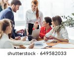 a group of successful... | Shutterstock . vector #649582033