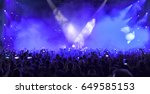 a crowd of people at a concert. ... | Shutterstock . vector #649585153
