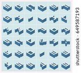 vector a z alphabet text 3d... | Shutterstock .eps vector #649587193