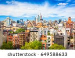new york city view of lower... | Shutterstock . vector #649588633