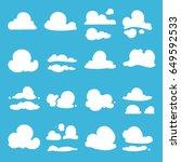 different clouds in cartoon...   Shutterstock .eps vector #649592533