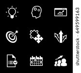 icons for theme business ... | Shutterstock .eps vector #649599163