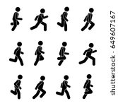 man people various running... | Shutterstock . vector #649607167