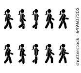 woman people various walking... | Shutterstock . vector #649607203