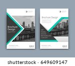 abstract a4 brochure cover... | Shutterstock .eps vector #649609147