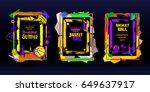 set of basketball banners ...   Shutterstock .eps vector #649637917