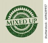 green mixed up distress grunge...   Shutterstock .eps vector #649639957