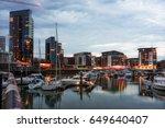 twilight capture of southampton'... | Shutterstock . vector #649640407
