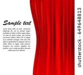 red theater curtain on a white... | Shutterstock .eps vector #649648813