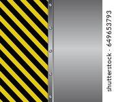 danger sign and metal... | Shutterstock .eps vector #649653793