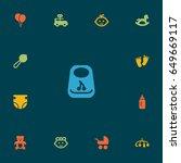 set of 13 child icons set...   Shutterstock .eps vector #649669117