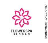 flower spa logo | Shutterstock .eps vector #649670707