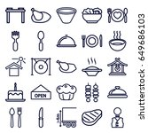 plate icons set. set of 25... | Shutterstock .eps vector #649686103