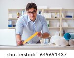 male engineer working on... | Shutterstock . vector #649691437