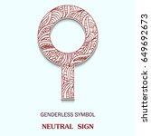 symbol of genderless is neutral ...   Shutterstock .eps vector #649692673