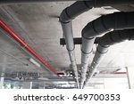 supply water and sewer pipes... | Shutterstock . vector #649700353