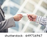 young caucasian businessman and ... | Shutterstock . vector #649716967